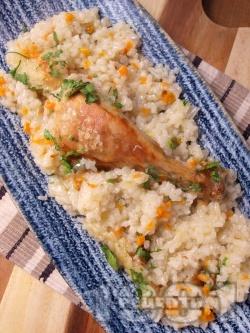 Класическа рецепта за пилешки бутчета с ориз - снимка на рецептата